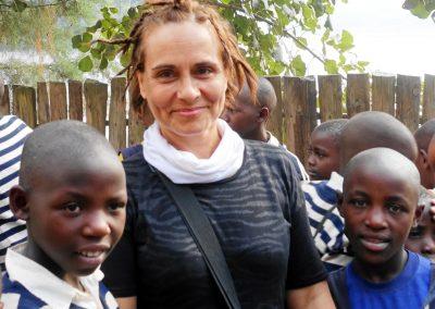 En un colegio en Ruanda