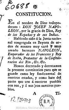 Constitución 1808