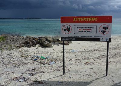No-bikini beach