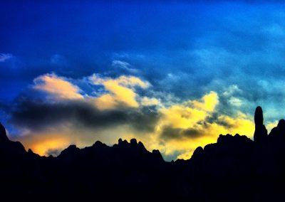 Anochecer en Montserrat