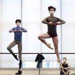 Una pareja de baile en plena pandemia