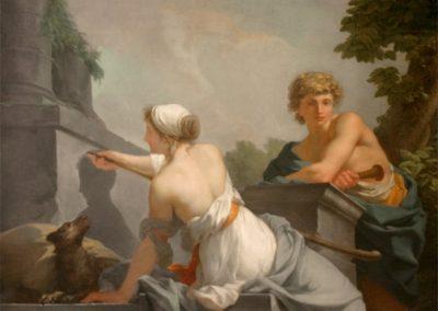 El origen de la pintura. J. B. Regnault, 1786